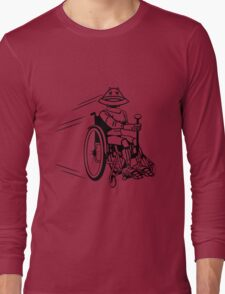 Robot cool tired funny funny wheelchair Long Sleeve T-Shirt