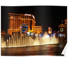 Bellagio Hotel Fountains 2 Poster