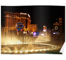 Bellagio Hotel Fountains Poster