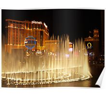 Bellagio Hotel Fountains 3 Poster