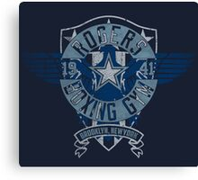 Rogers Boxing Gym 2 on Navy Canvas Print