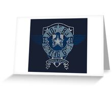 Rogers Boxing Gym 2 on Navy Greeting Card