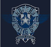 Rogers Boxing Gym 2 on Navy Photographic Print