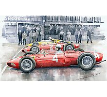 Ferrari 156 Sharknose 1961 Belgian GP Photographic Print