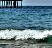 Hermosa Beach Surf Sticker
