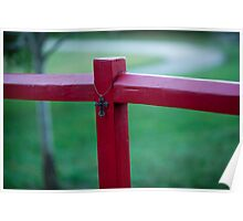 Cross on Red Post Poster