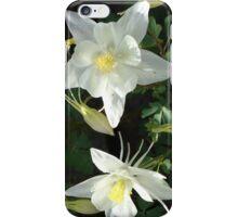 White Columbines iPhone Case/Skin