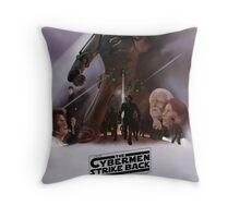 Time Wars - The Cybermen Strike Back Throw Pillow