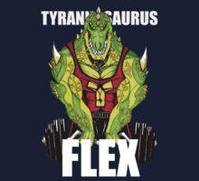 Tyrannosaurus Flex (With text) Kids Clothes