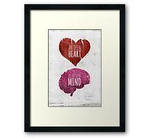 Open Heart, Open Mind Framed Print