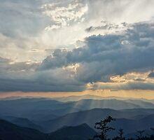 Sunset over the Blue Ridge Mountains by Bryan Yerman