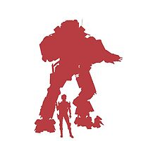 Red Robot Titan - iPhone Galaxy -  Vector Design Video Game by CooliPhones