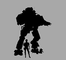 Black Grey Robot Titan Vector Design Video Game by CooliPhones