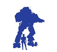 Blue Robot Titan - iPhone Galaxy -  Vector Design Video Game by CooliPhones