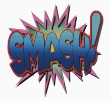 "Speech Bubbles Clouds Comic Book, ""SMASH!"" T-shirts by artkrannie"