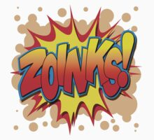 "Speech Bubbles Clouds Comic Book, ""ZOINKS!"" T-shirts by artkrannie"