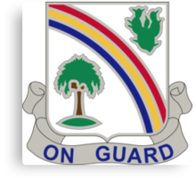 168th Infantry Regiment - On Guard Canvas Print