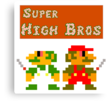 Super High Bros! Canvas Print