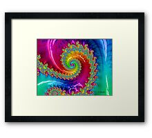 Rainbow Damage Framed Print