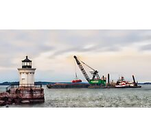 Light On Dredging Photographic Print