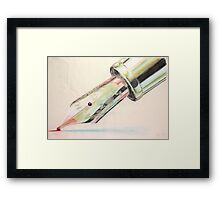 The Gondolier started singing Framed Print
