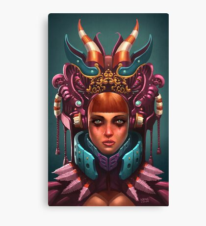 Rashah Queen Portrait Canvas Print