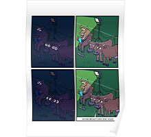 Cow Night Light Poster