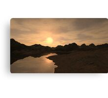 Remote Sunset Canvas Print