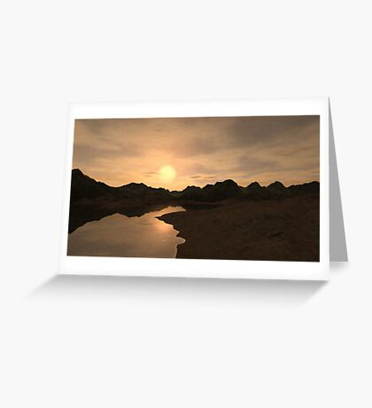 Remote Sunset Greeting Card