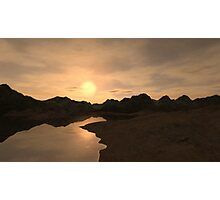 Remote Sunset Photographic Print
