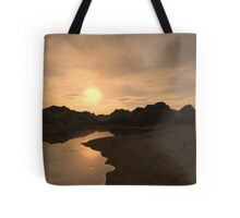 Remote Sunset Tote Bag