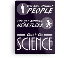 Fandom Hearts - That's The Science Metal Print