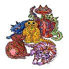Crazy Cats by Lisa Frances Judd ~ QuirkyHappyArt