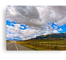 """""""Clouds and Road"""" Utah Canvas Print"""