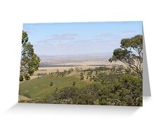 Views from Spring Gully Cons. Red Stringybark forest. Clare S.A. Greeting Card