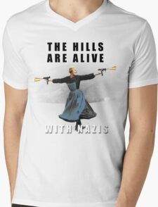 The Hills are Alive with Nazis Mens V-Neck T-Shirt