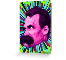 Nietzsche Burst 8 - by Rev. Shakes Greeting Card