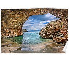 Cavebeach in Evia island Poster