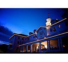 Stanley Hotel at Twilight Circa 2010 Photographic Print