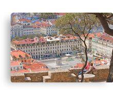 Praça da Figueira Canvas Print