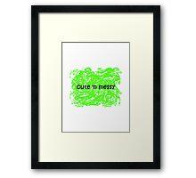 Cute 'N Messy Baby Onesie Framed Print