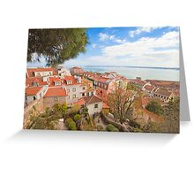 Lisbon view form the Castle Greeting Card