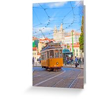 28. tram in Lisbon Greeting Card