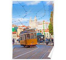 28. tram in Lisbon Poster