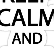 Keep calm and dive on Sticker
