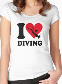 I love diving Women's Fitted Scoop T-Shirt