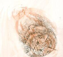 Japanese Bobtail Tabby Cat by KirstenOnRedB