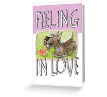 feeling in love Greeting Card
