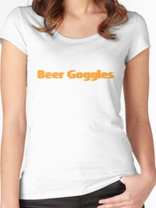 Beer goggles Women's Fitted Scoop T-Shirt