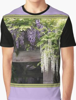 The Wisteria Arbor in the Garden Graphic T-Shirt